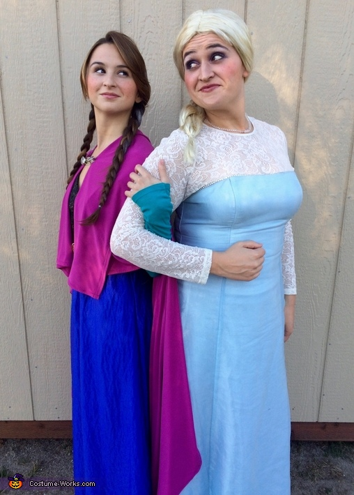 Anna and Elsa, Frozen Movie Family Costume