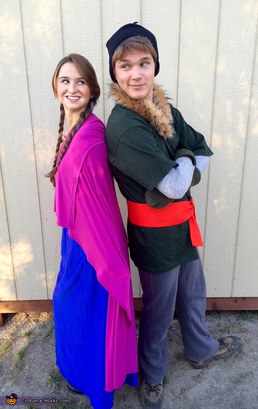 Kristoff and Anna, Frozen Movie Family Costume