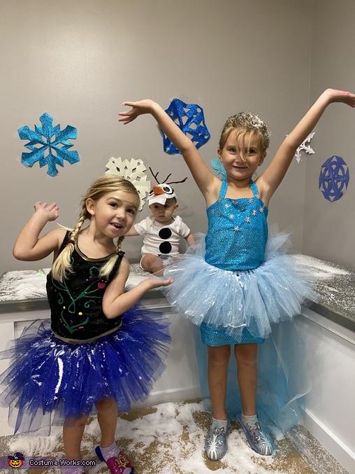 Frozen Babies Homemade Costume