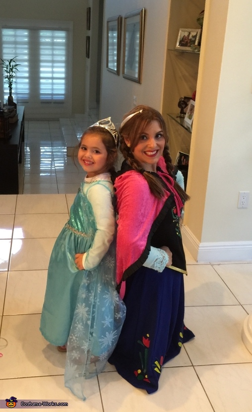 Frozen Elsa and Anna Costume