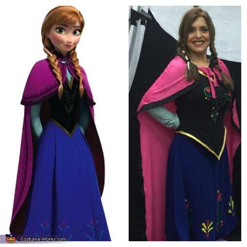 Anna homemade custom  Frozen Elsa and Anna Costume  sc 1 st  Costume Works & Frozen Elsa and Anna Costumes - Photo 4/4