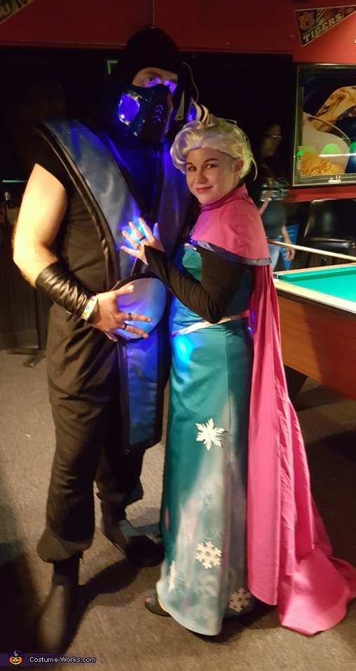 Frozen Elsa and Sub Zero Costume