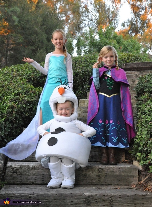 The Cast of Frozen - Elsa, Anna & Olaf Costumes
