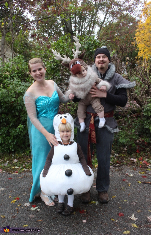 Mom, Dad, big brother, and baby brother, Frozen Family Costume