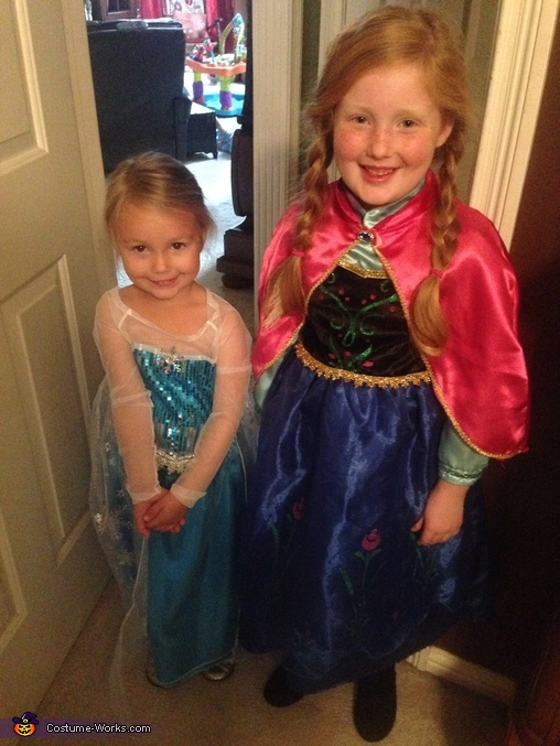 Anna & Elsa , Frozen Family Costumes