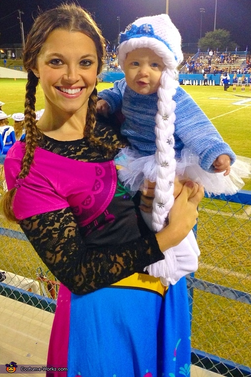 Anna and Elsa,  Frozen Family Costume