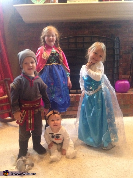 Homemade Frozen Family Costumes