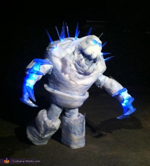 Frozen Marshmallow Homemade Costume