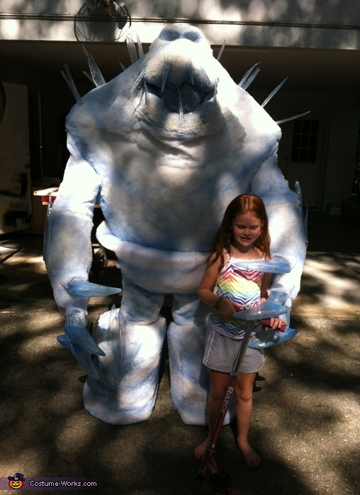 Frozen Marshmallow Homemade Costume