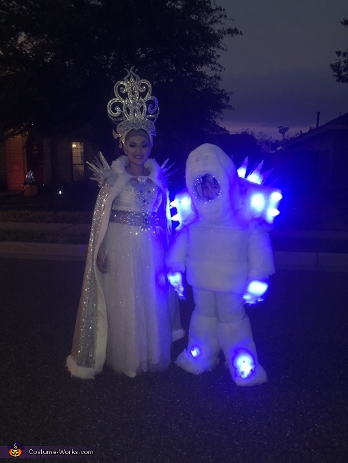 Frozen Marshmallow Snow Monster Homemade Costume