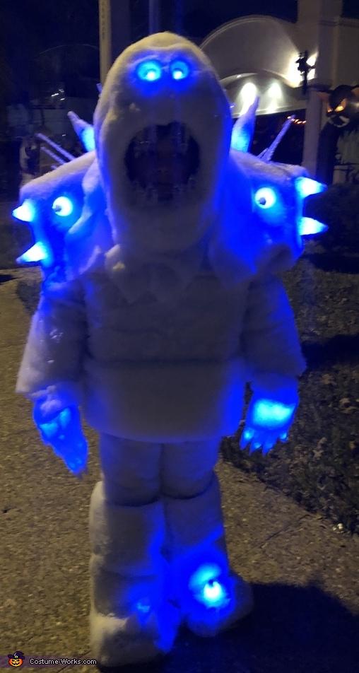 Frozen Marshmallow Snow Monster Homemade Costume