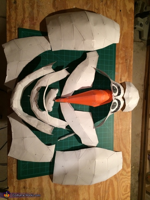 Head templates  - poor Olaf!, Frozen Olaf Costume