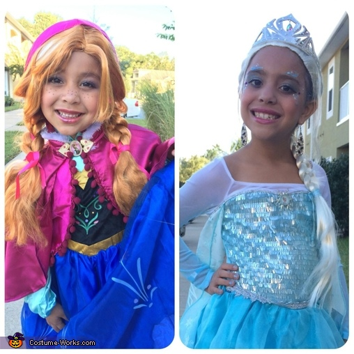 Princess Anna and Queen Elsa, Frozen Queen Elsa and Princess Anna Costume