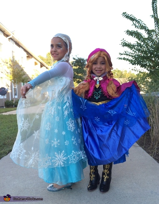 Frozen Queen Elsa and Princess Anna Costume