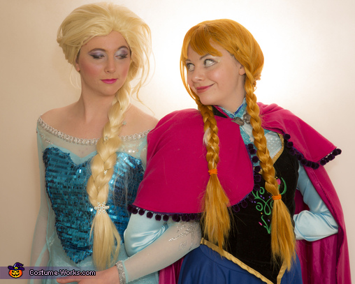 Anna and Elsa from Frozen, Frozen Sisters Anna and Elsa Costume