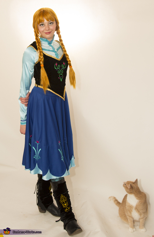 Anna from Frozen - and kitty, Frozen Sisters Anna and Elsa Costume