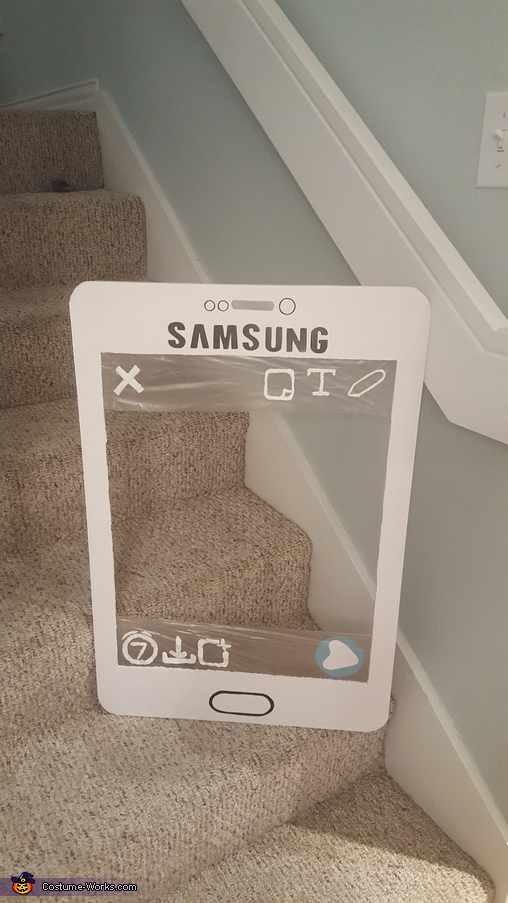 The phone frame., Fun with Snapchat Costume