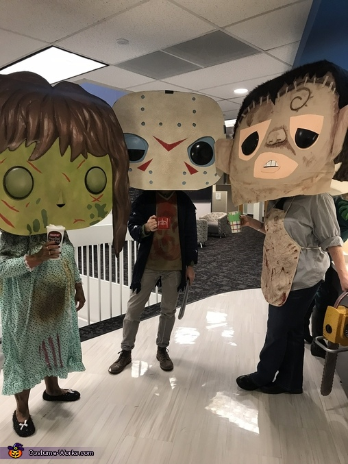 Horror Characters having coffee, Funko POP Horror Movie Characters Costume