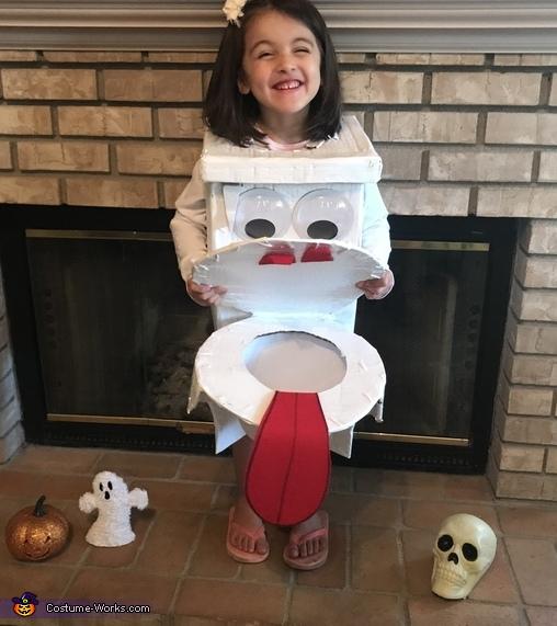 Funny Toilet Costume