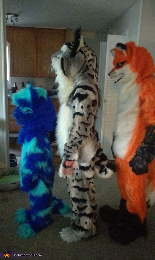 Side view, Furry Gang Costume