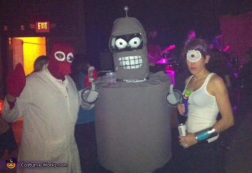 Futurama Bender and Crew Group Costume