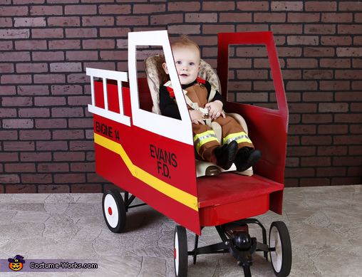 Future Fire Rescue Chief Baby Homemade Costume