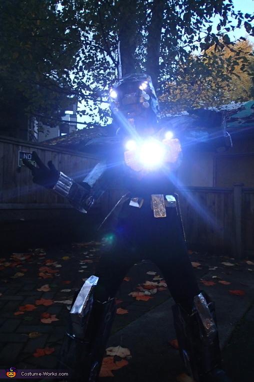pose, Futuristic Robot Costume