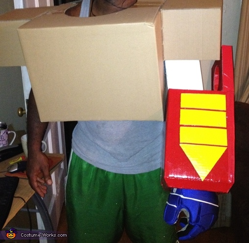 Piecing the upper-body parts together, G1 Optimus Prime Costume