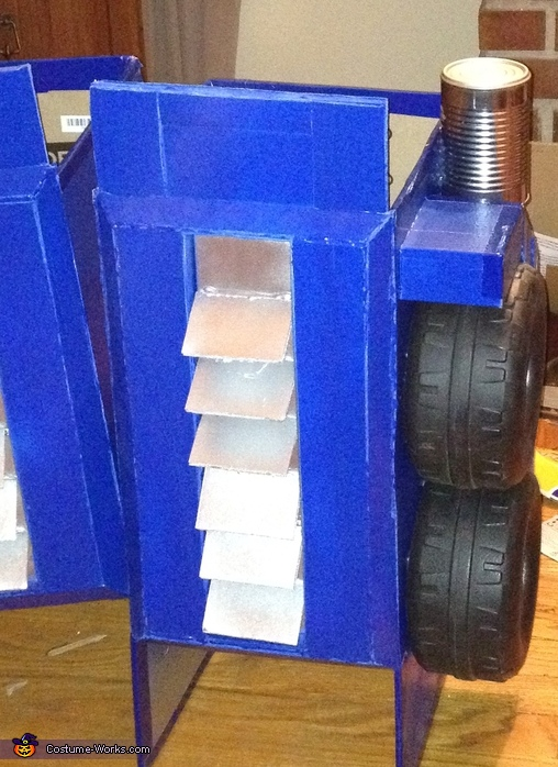 The completed leg, G1 Optimus Prime Costume