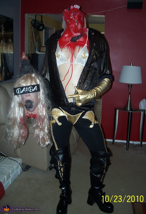 Gaga-Ween - Headless Lady Gaga, Headless Guy Costume