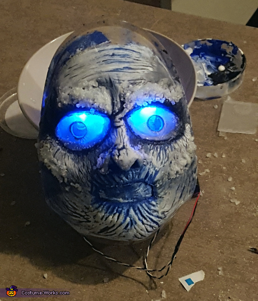 mask detail 2, White Walker Costume