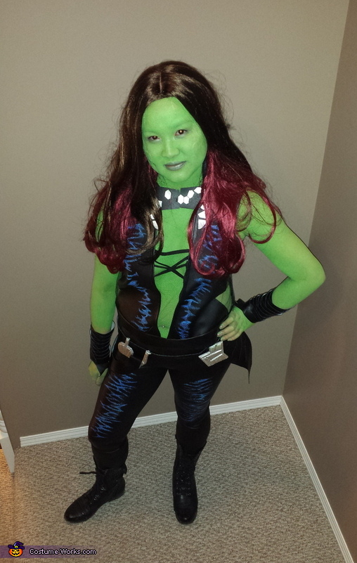 From above, Gamora from Guardians of the Galaxy Costume