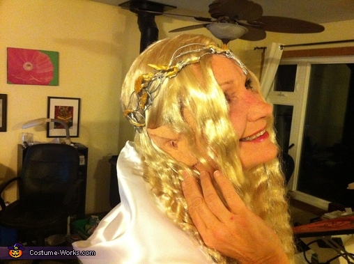 Elf ears and close up of crown, Gandalf and Galadriel Couple's Costume