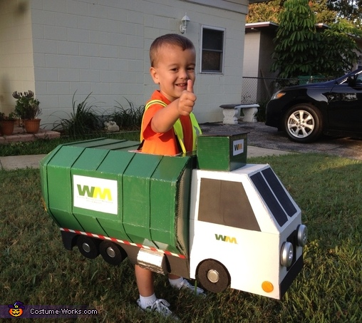Garbage Man with Truck Costume
