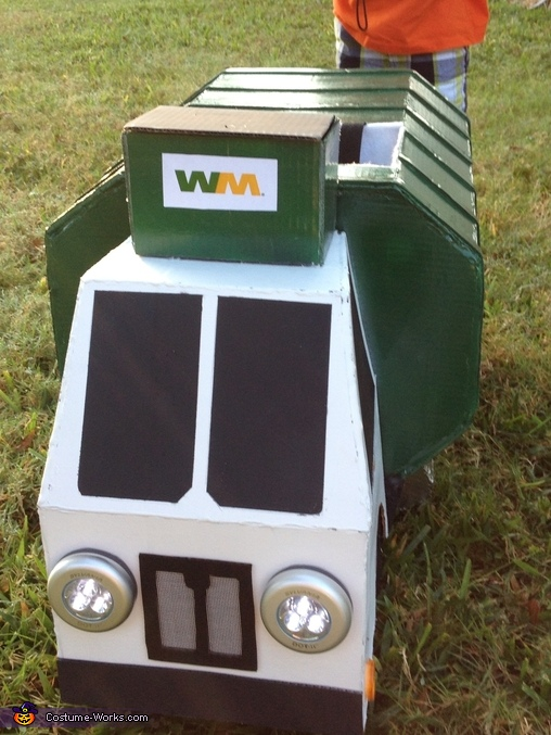 Front of Garbage Truck Costume, Garbage Man with Truck Costume