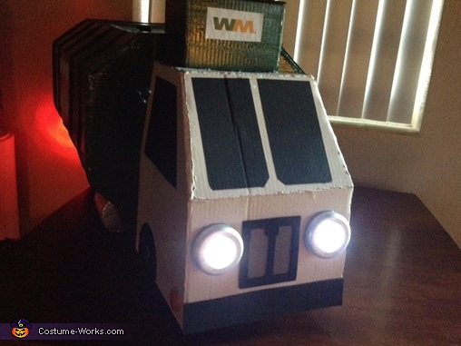 Garbage Truck Costume with working lights, Garbage Man with Truck Costume
