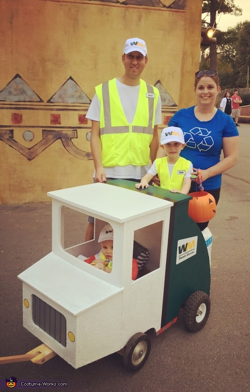 Garbage Men and Recycling Bin Costume