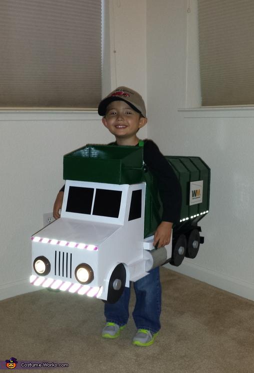Homemade Garbage Truck Costume