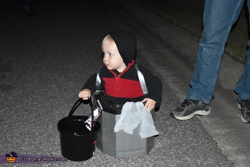 Garbage Truck and Garbage Can Homemade Costume