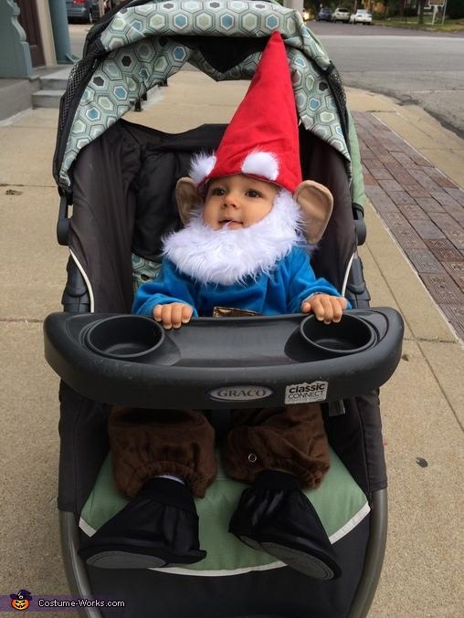 Traveling Gnome, Garden Gnome Costume