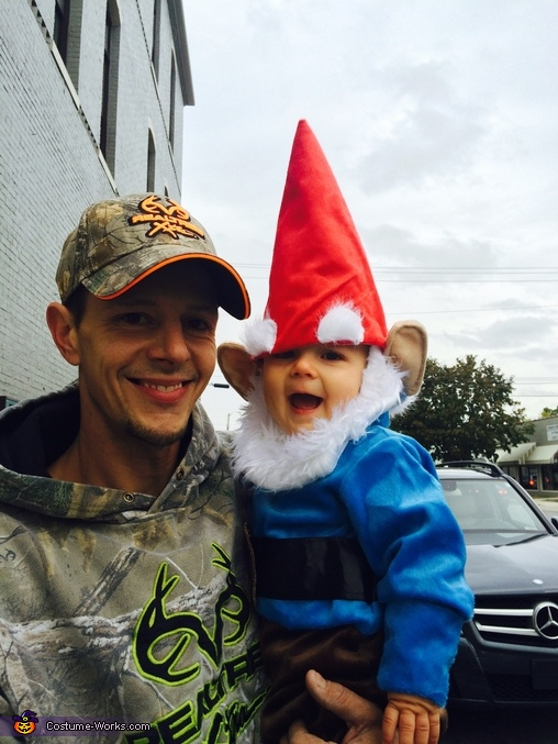 Daddy (Casey) and Gnome, Garden Gnome Costume