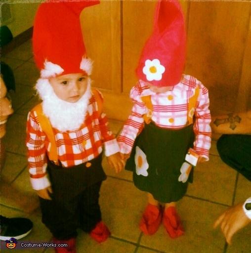 John Chevis & Kaydence Marie, Garden Gnomes Costume