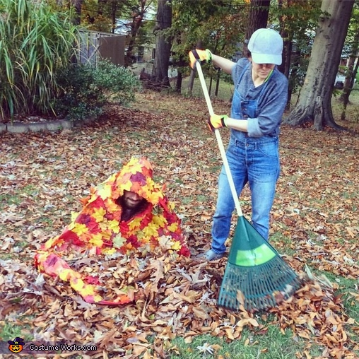 Gardener and a Pile of Leaves Costume