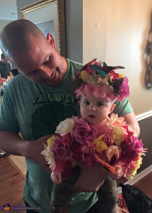 flower baby, Gardner and her Flower Costume