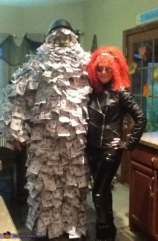 af0a86121429 Geico Money Man and Biker Chick Costume