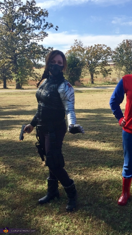 Gender-Bent Marvel's Winter Soldier Homemade Costume