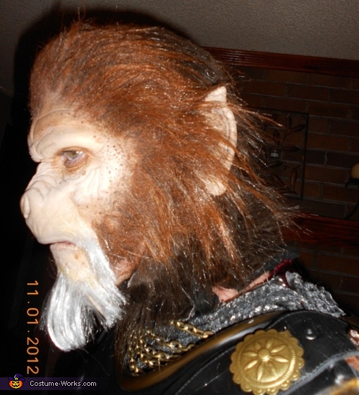 Head profile, General Thade Costume
