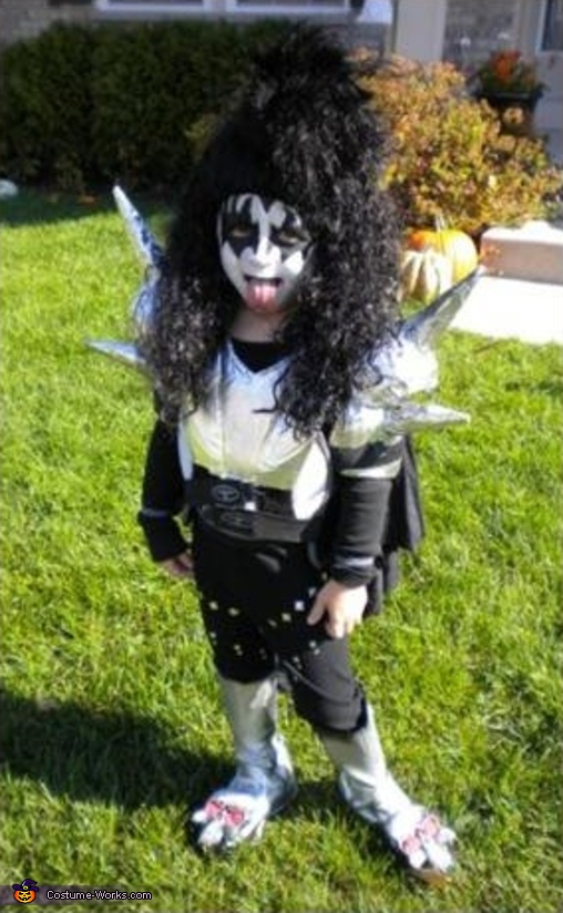 4 yrs. old, Troy, IS: Gene Simmons, Kiss Band Costume