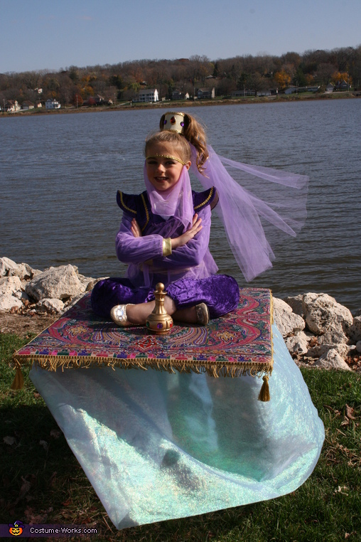 Genie on a Magic Carpet DIY Halloween Costume