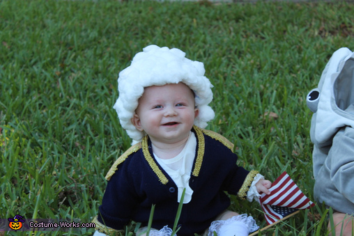 George Washington Baby Homemade Costume